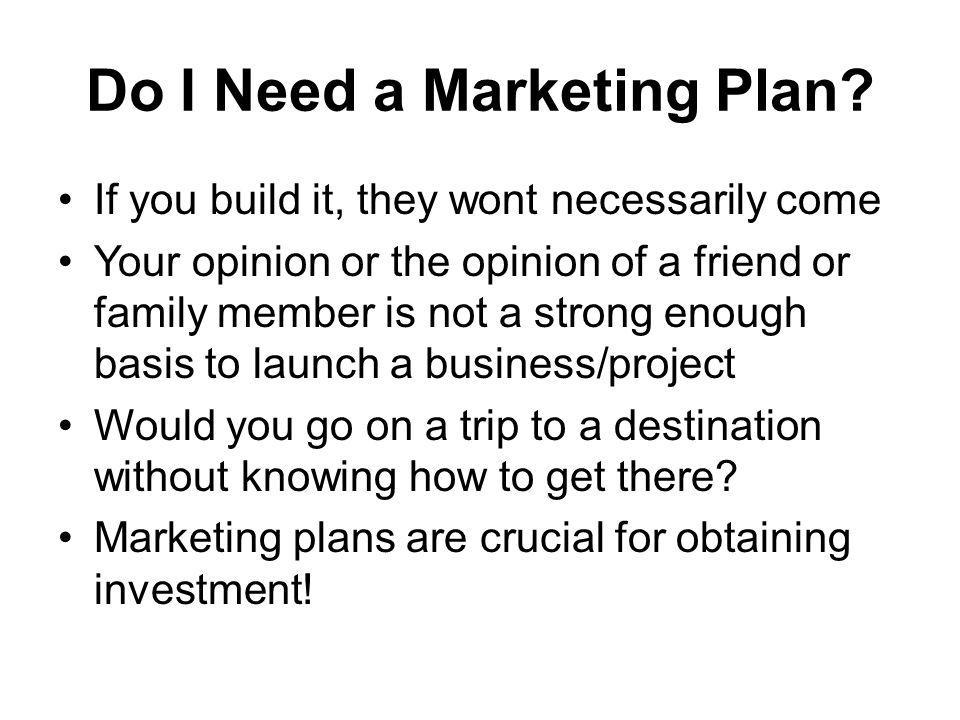 Do I Need a Marketing Plan