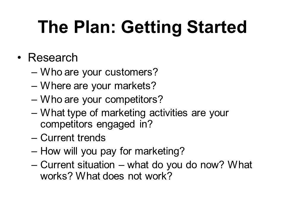 The Plan: Getting Started