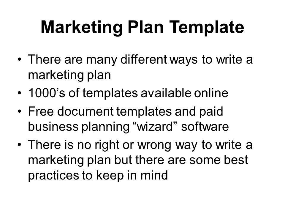 What Is A Marketing Plan In A Business Plan