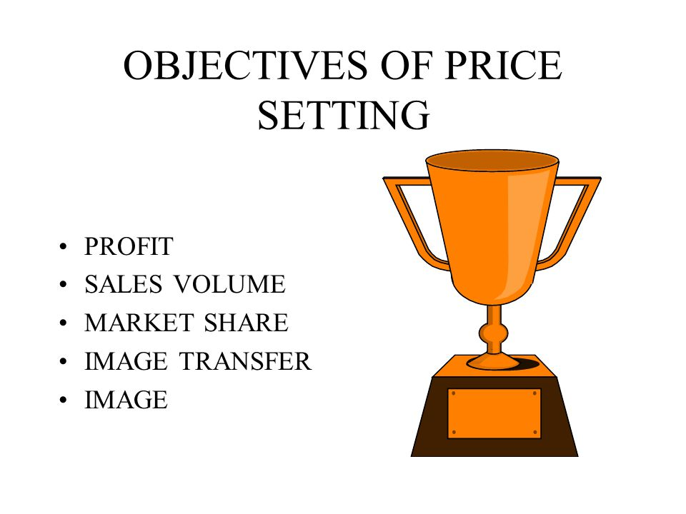 OBJECTIVES OF PRICE SETTING