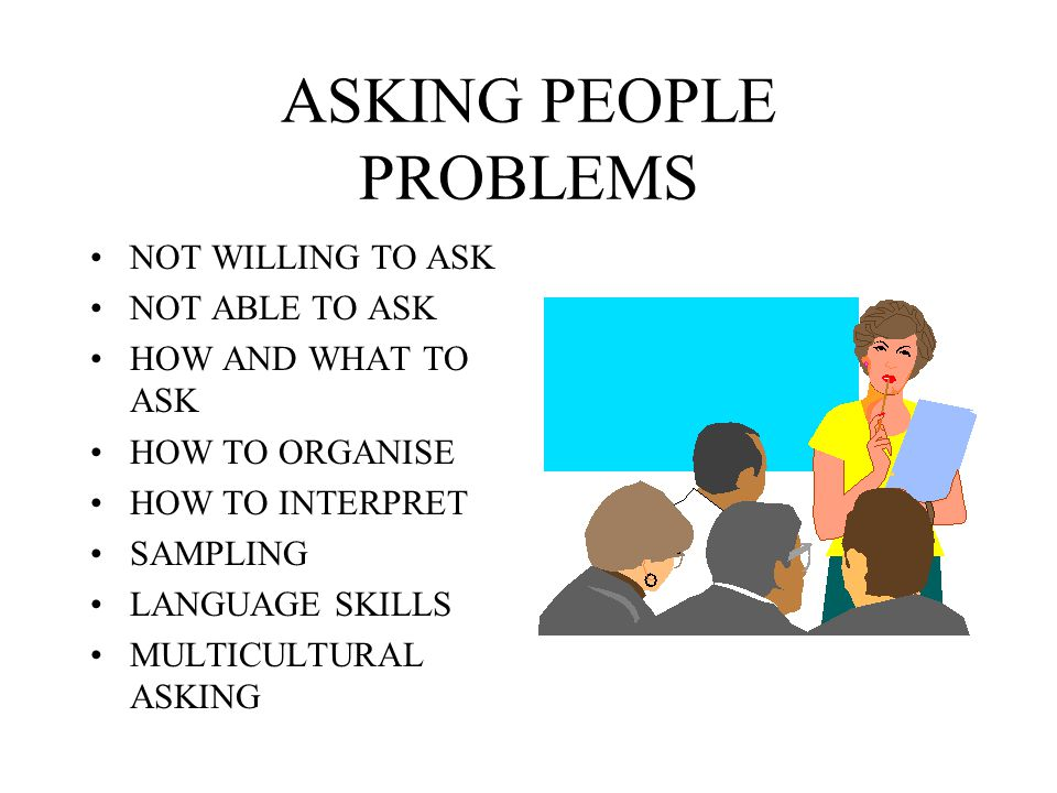 ASKING PEOPLE PROBLEMS