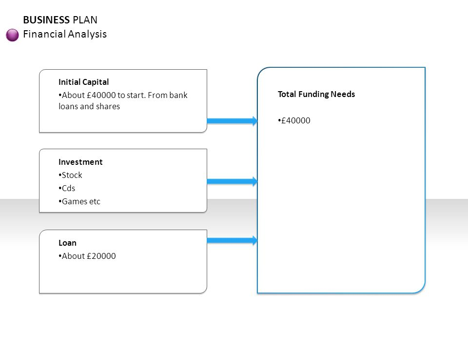 BUSINESS PLAN Financial Analysis Initial Capital