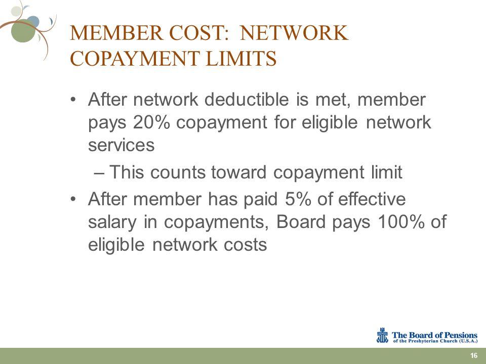 Member Cost: Network Copayment Limits