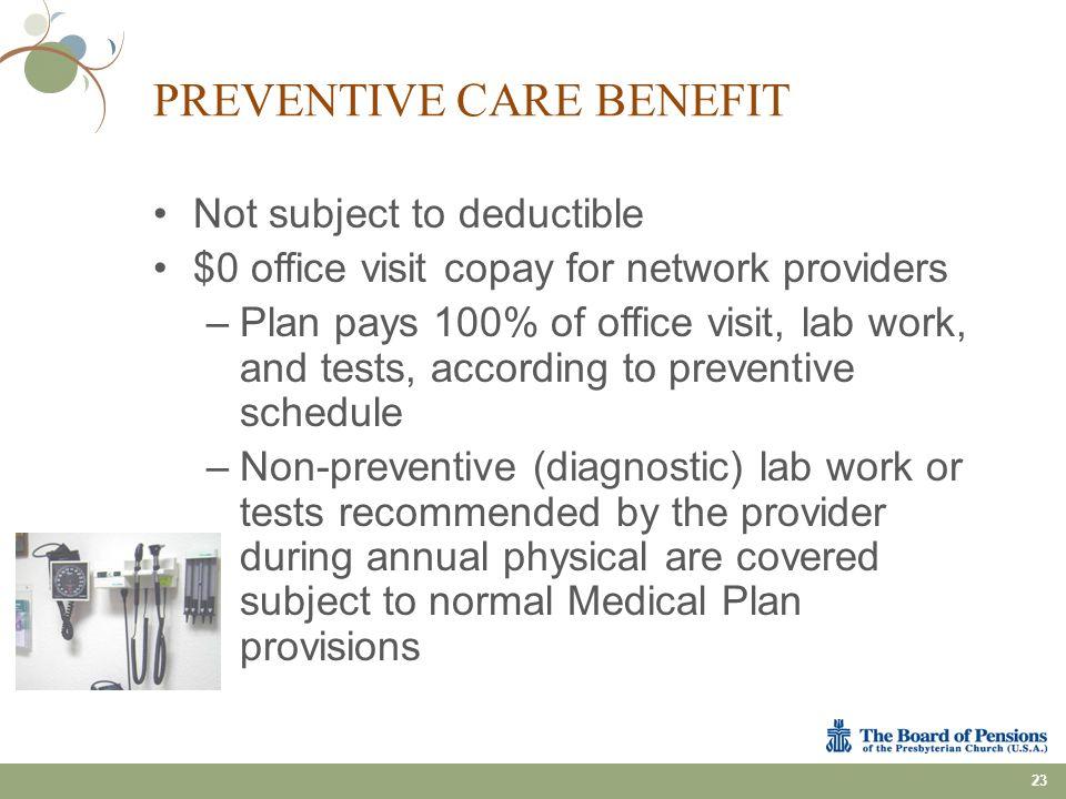 Preventive Care Benefit