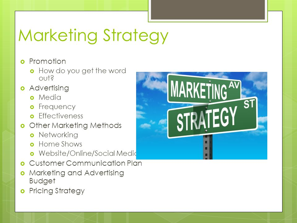 Marketing Strategy Promotion Advertising Other Marketing Methods