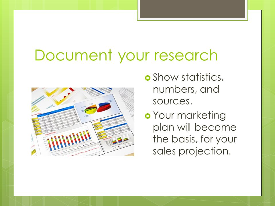 Document your research