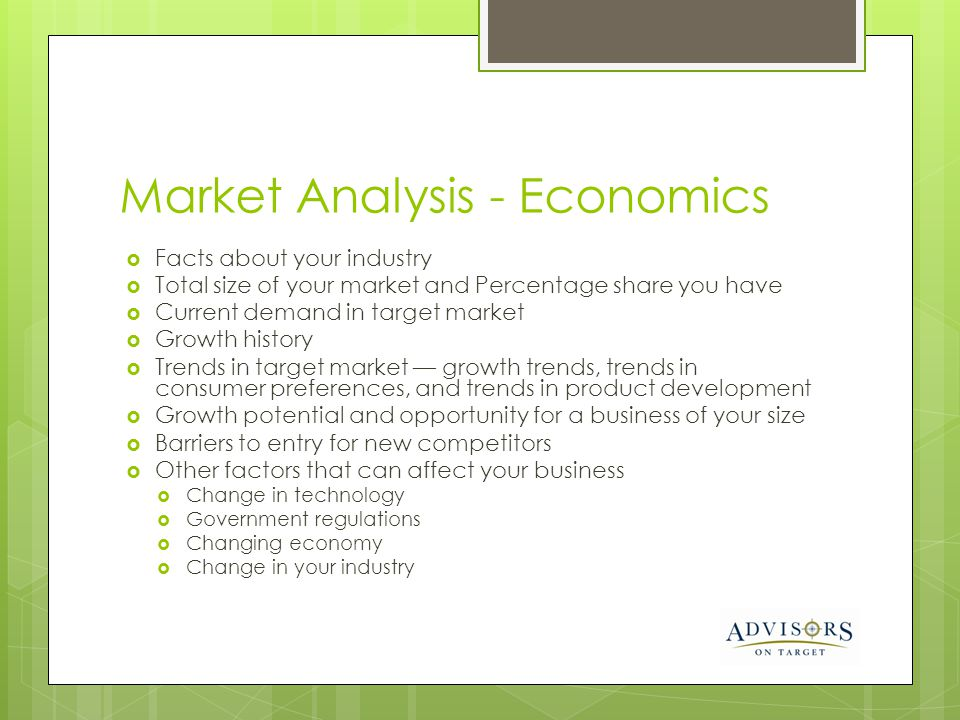 Market Analysis - Economics