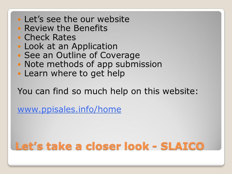 Let's take a closer look - SLAICO