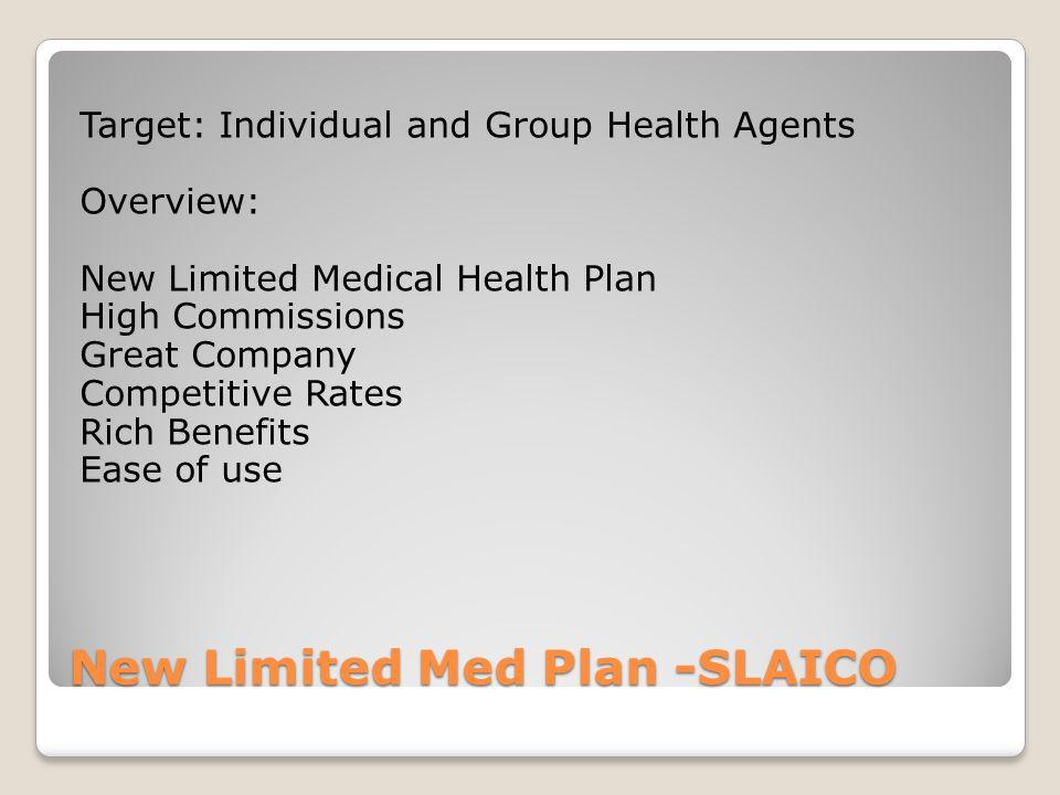 New Limited Med Plan -SLAICO