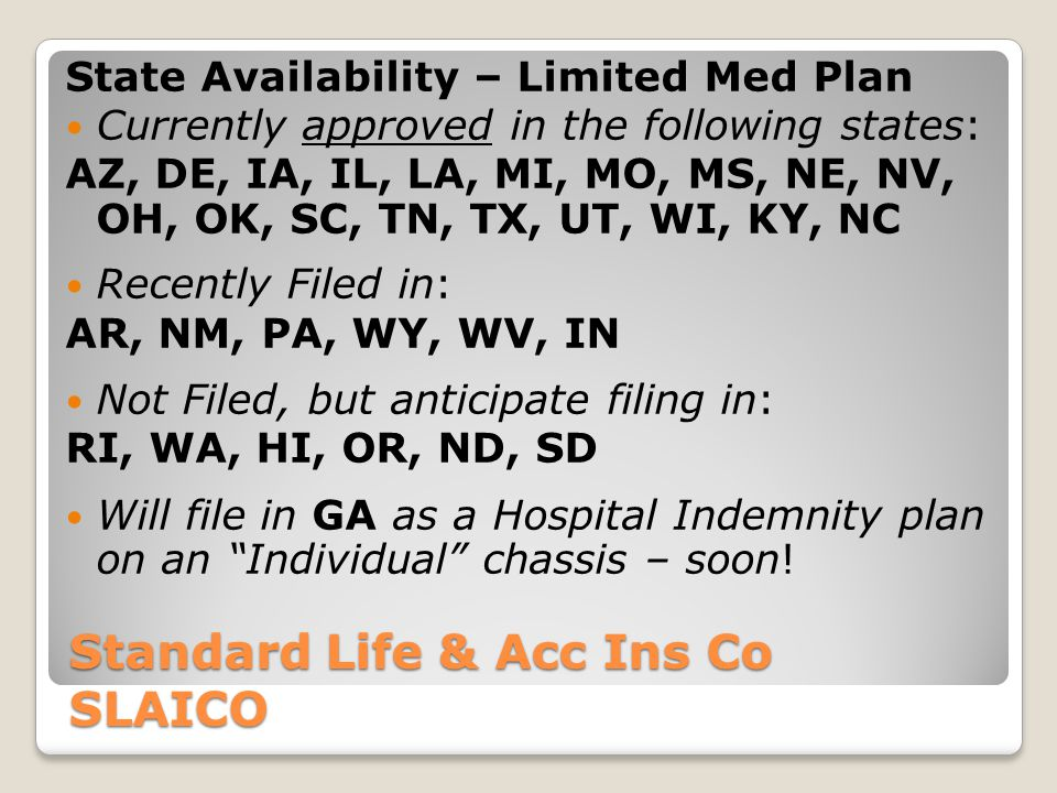 Standard Life & Acc Ins Co SLAICO