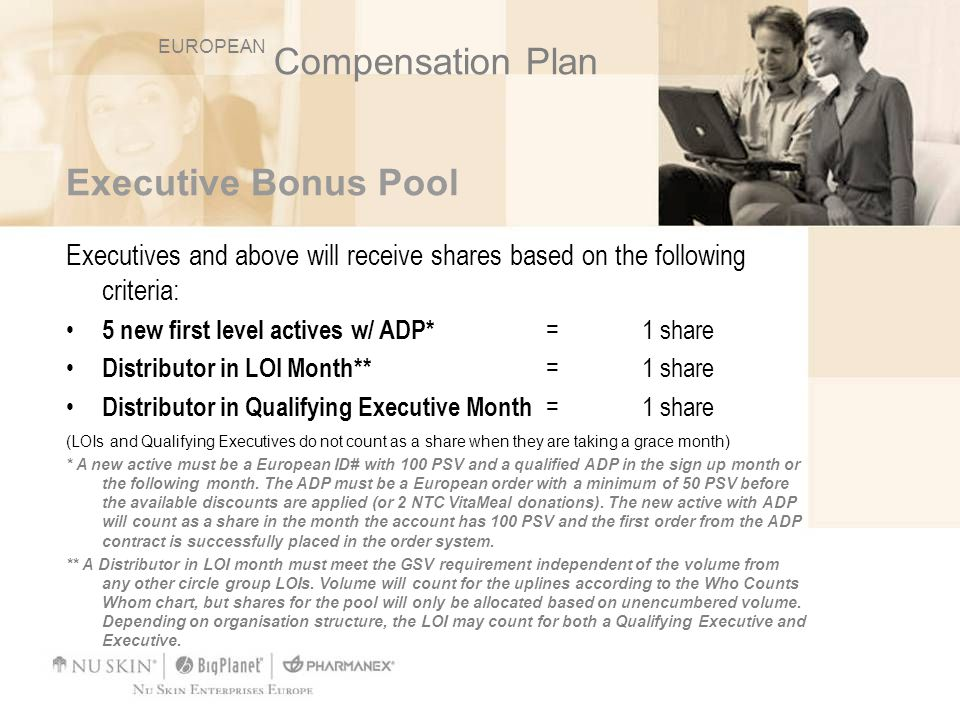 Compensation Plan Executive Bonus Pool
