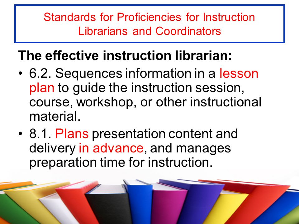 The effective instruction librarian: