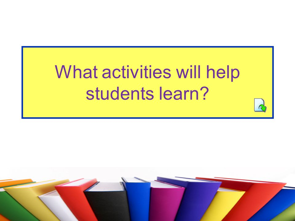 What activities will help students learn