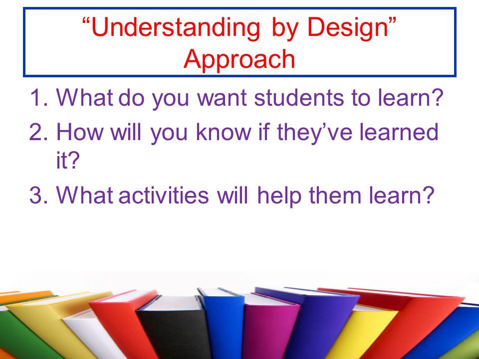 Understanding by Design Approach