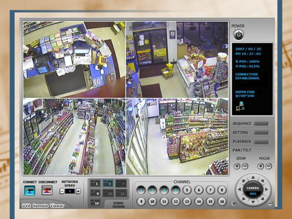 Technology Cameras will monitor the store 24 hours seven days a week. Which all partners can access via the web.