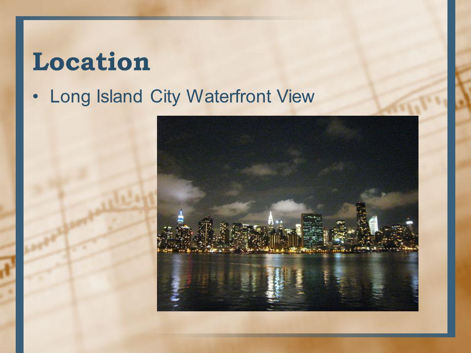 Location Long Island City Waterfront View