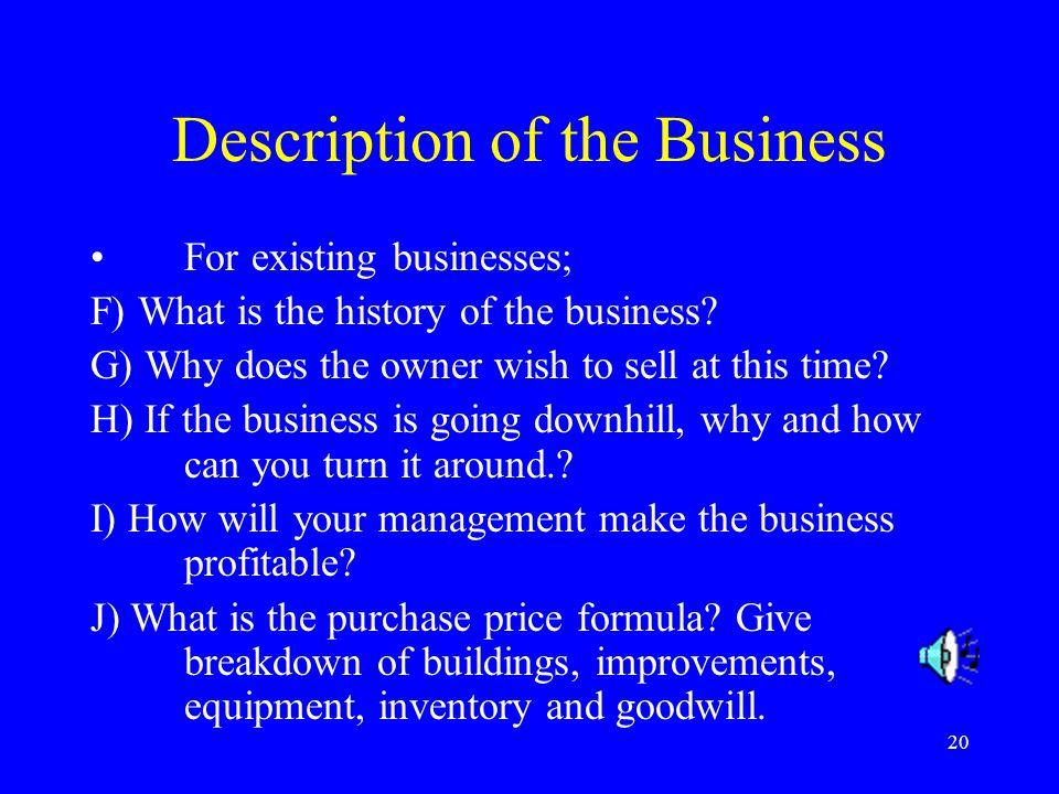 Description of the Business