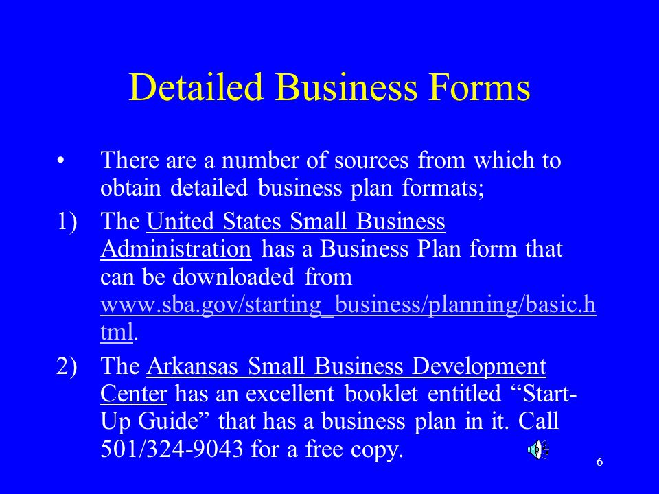 Detailed Business Forms