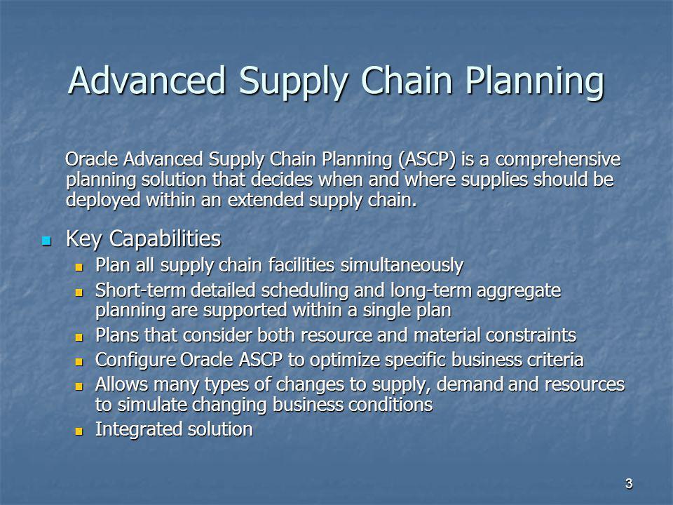 Advanced Supply Chain Planning