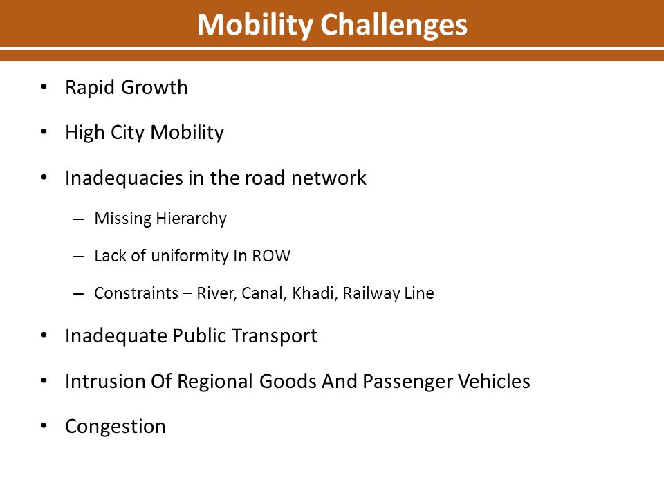 Mobility Challenges Rapid Growth High City Mobility
