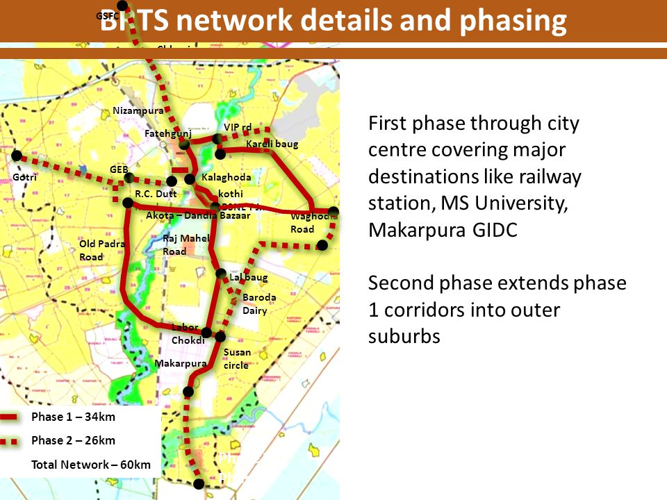 BRTS network details and phasing
