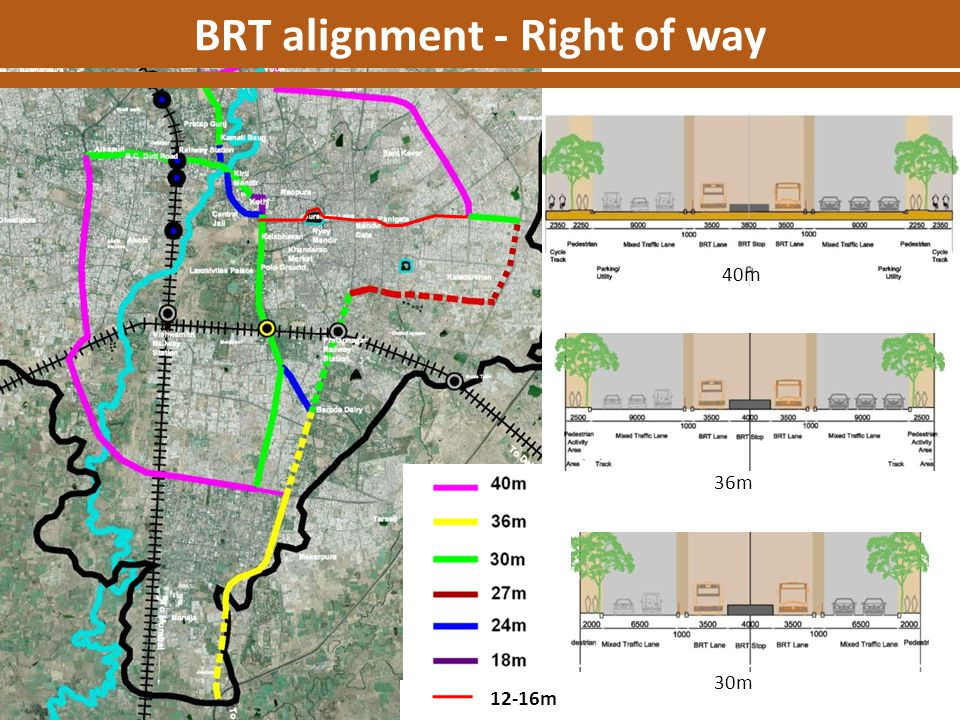 BRT alignment - Right of way