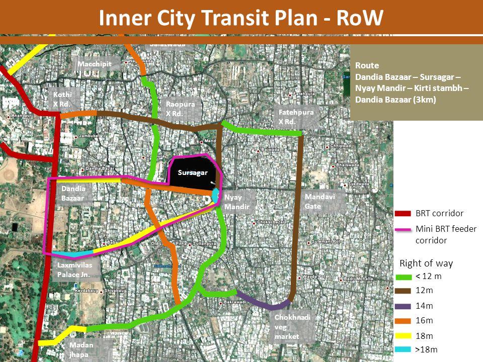 Inner City Transit Plan - RoW