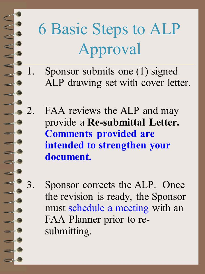 6 Basic Steps to ALP Approval