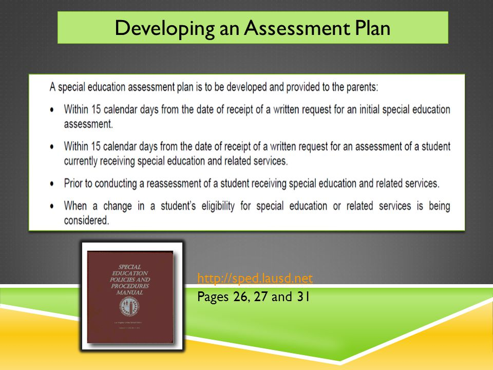 http://sped.lausd.net Pages 26, 27 and 31