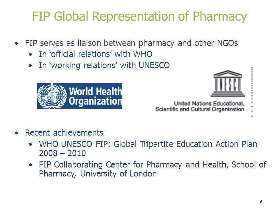 FIP Global Representation of Pharmacy