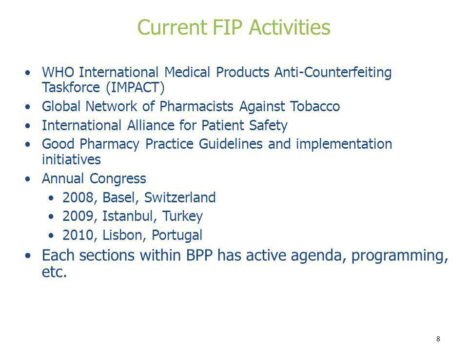 Current FIP Activities