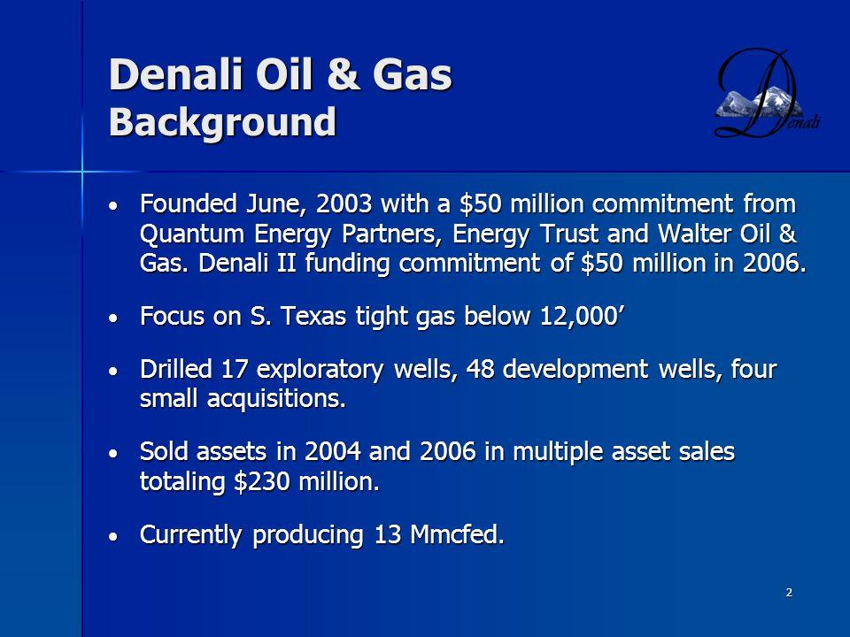 Denali Oil & Gas Background