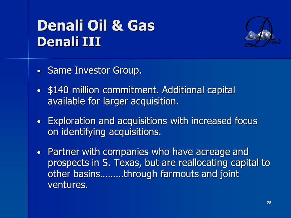 Denali Oil & Gas Denali III