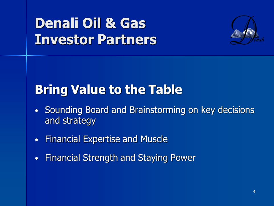 Denali Oil & Gas Investor Partners
