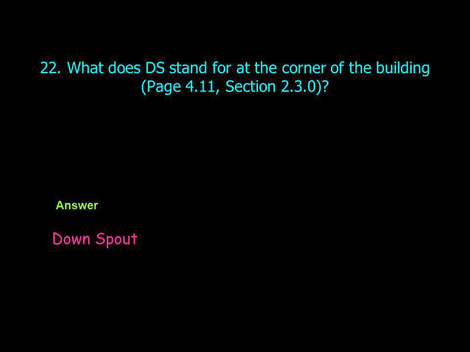 22. What does DS stand for at the corner of the building (Page 4