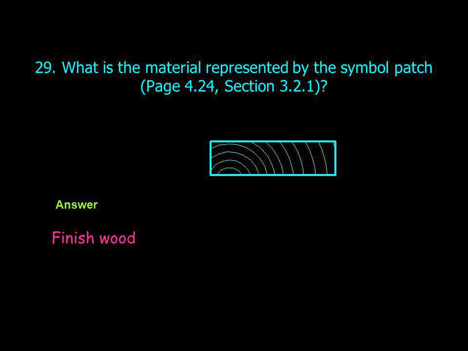29. What is the material represented by the symbol patch (Page 4