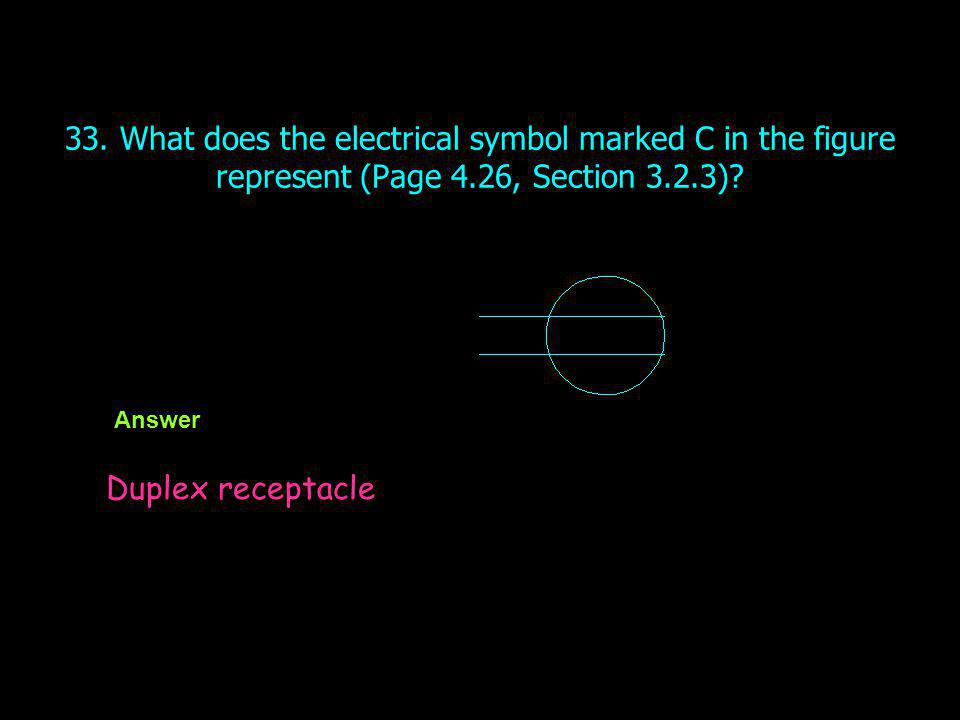 33. What does the electrical symbol marked C in the figure represent (Page 4.26, Section 3.2.3)