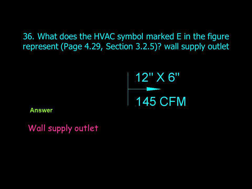 36. What does the HVAC symbol marked E in the figure represent (Page 4