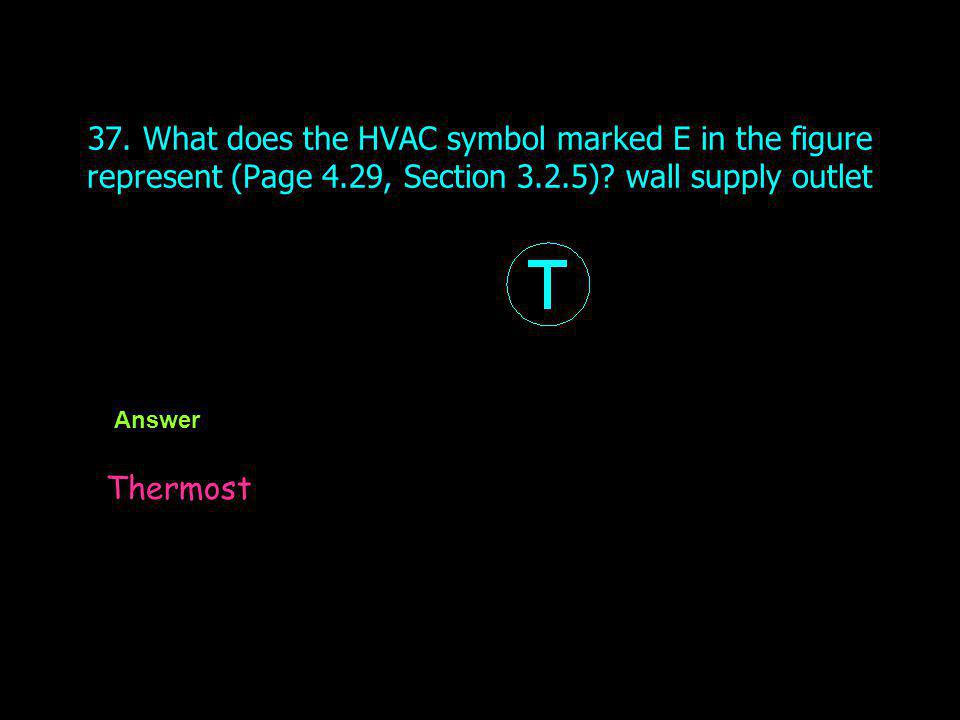 37. What does the HVAC symbol marked E in the figure represent (Page 4