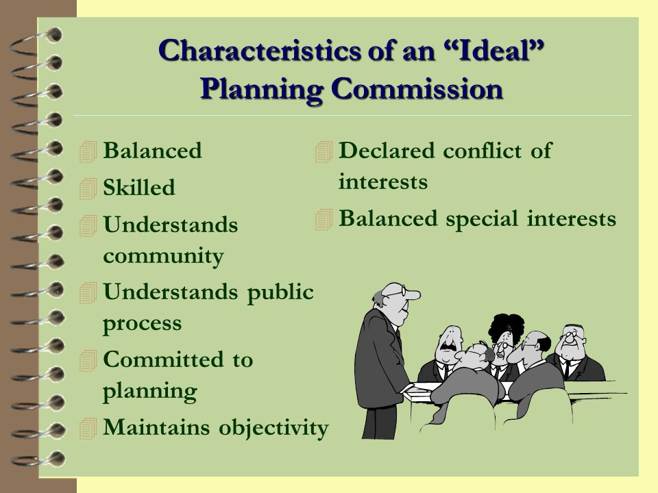 Characteristics of an Ideal Planning Commission