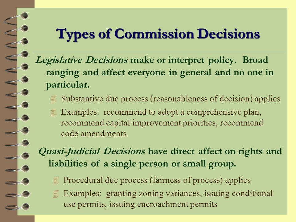 Types of Commission Decisions