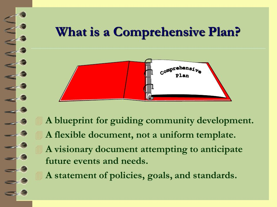 What is a Comprehensive Plan