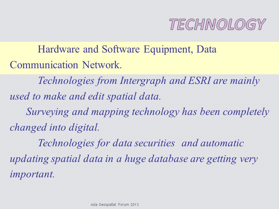 Technology Hardware and Software Equipment, Data Communication Network.