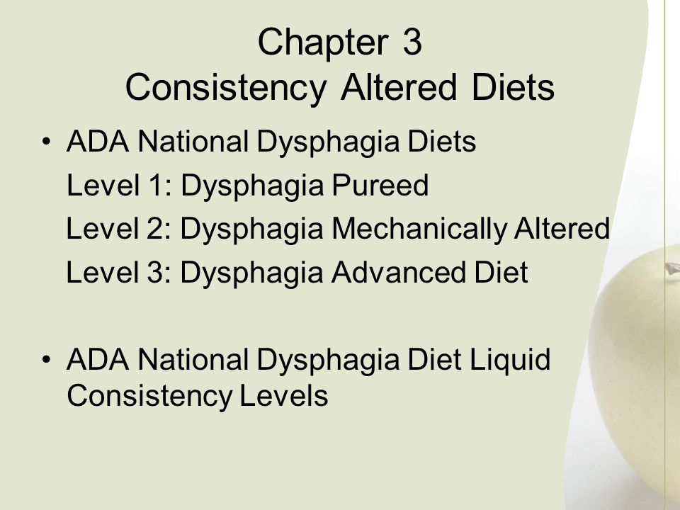 Chapter 3 Consistency Altered Diets
