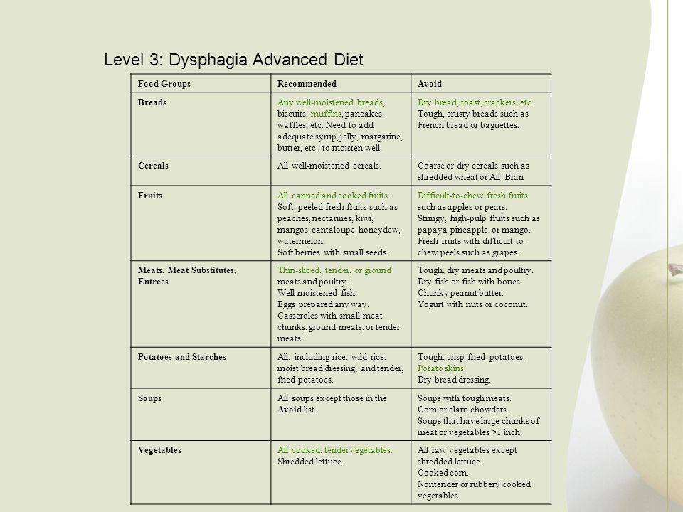 Level 3: Dysphagia Advanced Diet