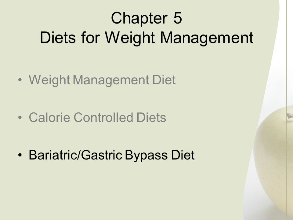 Chapter 5 Diets for Weight Management