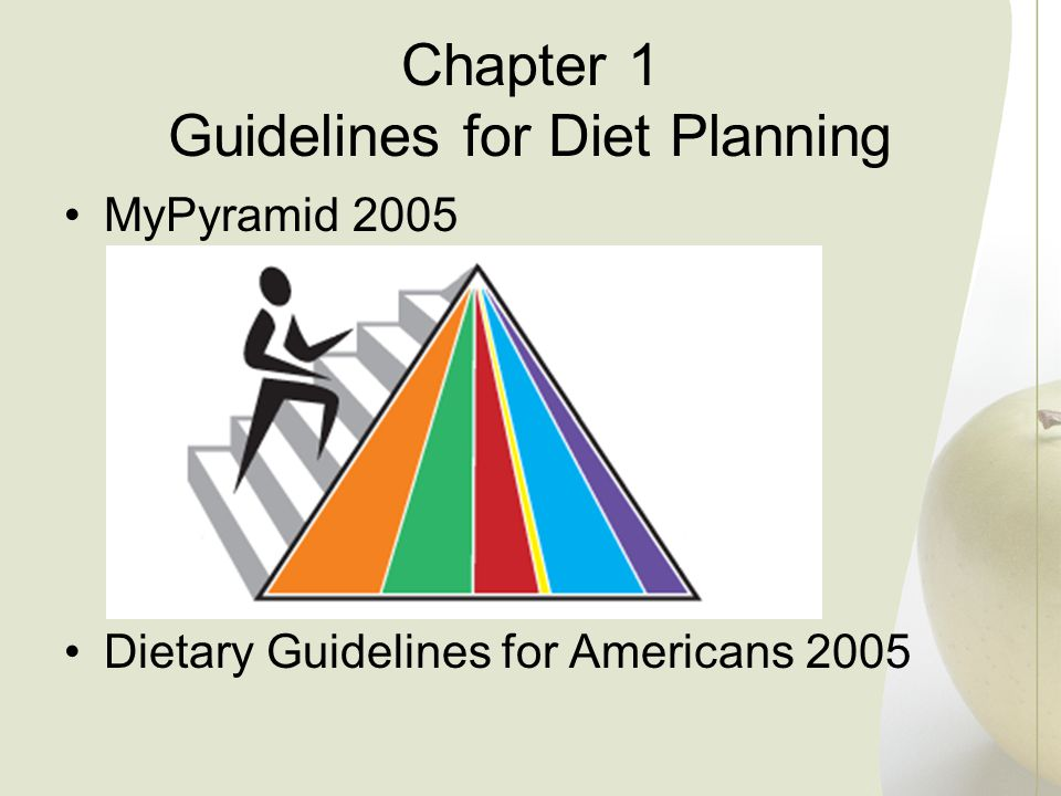 Chapter 1 Guidelines for Diet Planning