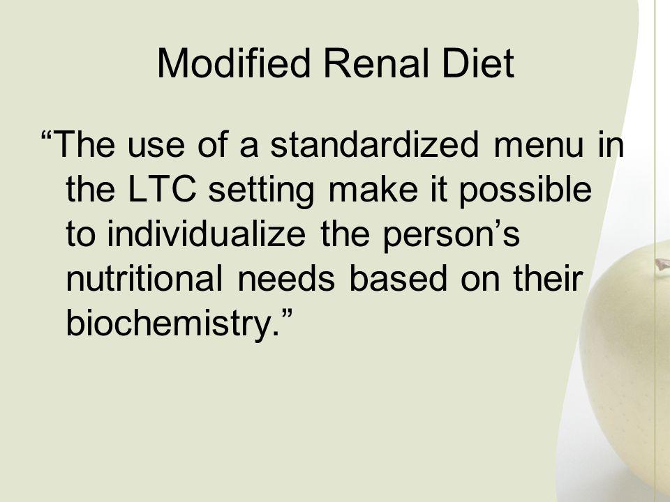 Modified Renal Diet