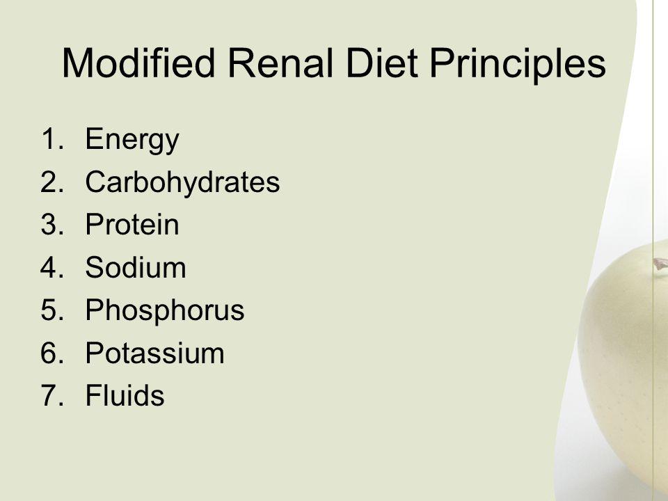 Modified Renal Diet Principles