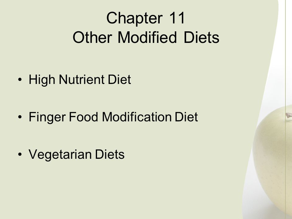 Chapter 11 Other Modified Diets